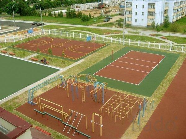 Отремонтированный школьный стадион СПБ